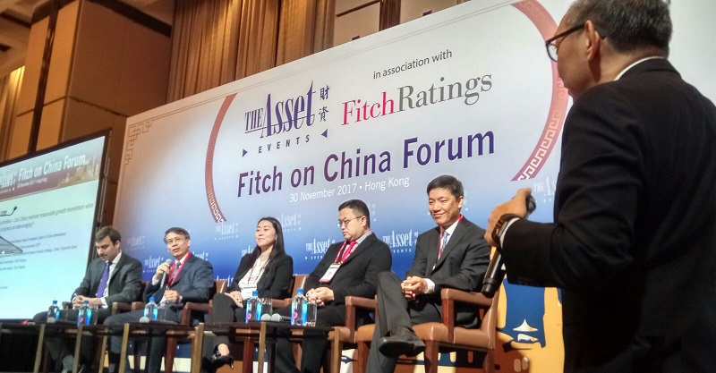 Panellists at the Fitch on China Forum. From left to right: Andrew Fennell, Steve Wang, Grace Wu, Chris Leung, and Zhiwei Zhang