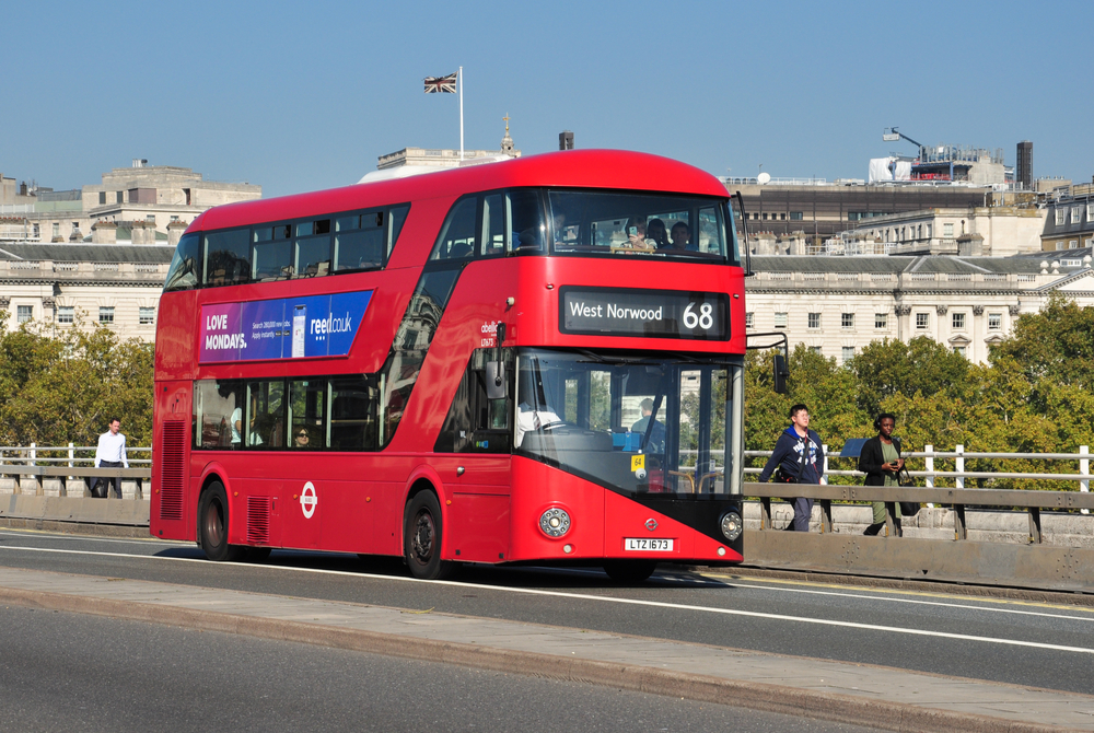 London double-decker bus made by Wrightbus