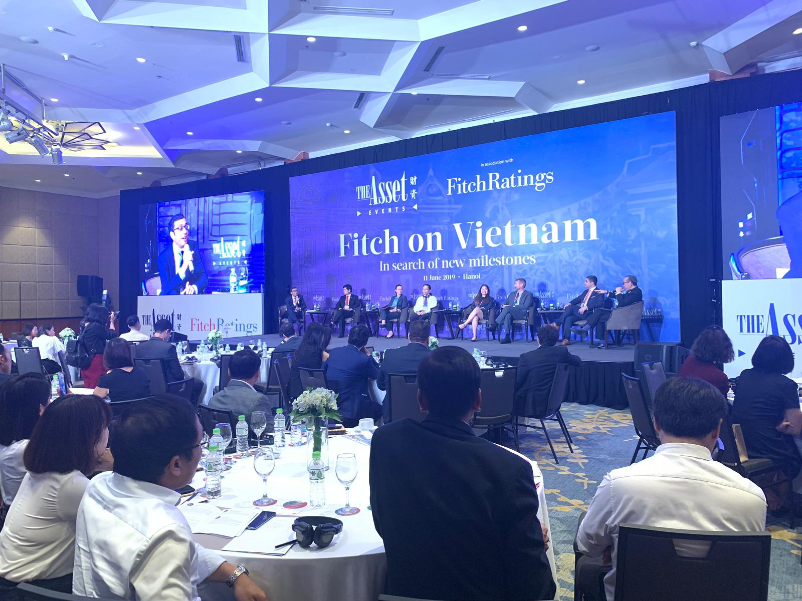 Panel at The Asset's Vietnam event held in association with Fitch Ratings